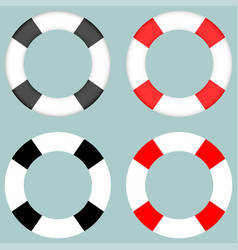 Lifebuoy black and grey colour vector