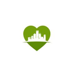 Love my city template vector