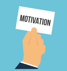 man showing paper motivation text vector image