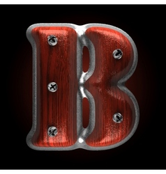 Metal and wood figure b vector