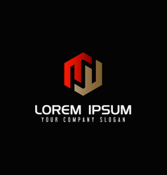 modern letter m logo design concept template vector image