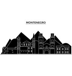 montenegro architecture city skyline vector image