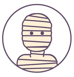 Mummy avatar man in bandages icon egyptian mummy vector