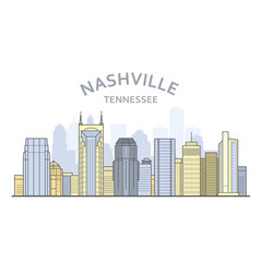 Nashville cityscape tennessee - city panorama of vector
