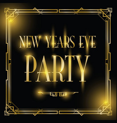 New years eve party background vector