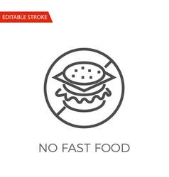 no fast food icon vector image