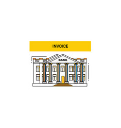 pay bills in the bank vector image