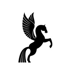 Pegasus with wings isolated mythical animal vector