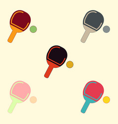 Ping pong racket collection vector
