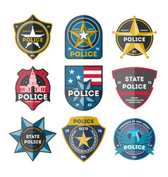 Police department badge set vector