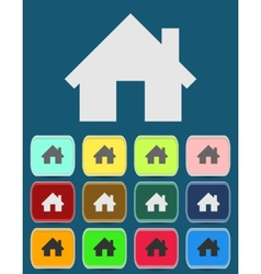 Real estate concept Small house - icon vector