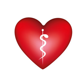 red heart medicine sign vector image