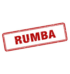 Rumba stamp square grunge sign on white background vector