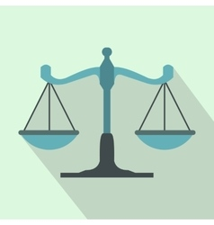 Scales of justice icon flat style vector