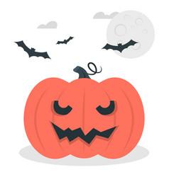 scary smile pumpkin jack o lantern halloween vector image