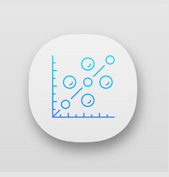 Scatter plot app icon scattergram mathematical vector