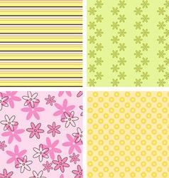 Scrapbook patterns vector