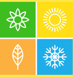 Seasons - winter spring summer and autumn vector