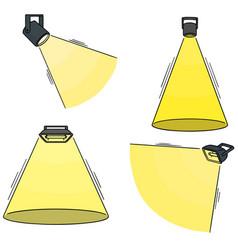 set of spotlight vector image