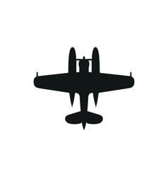 Simple black Float Plane icon on white background vector
