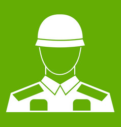 soldier icon green vector image