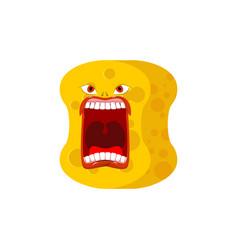 sponge emoji scream emotions shout yellow avatar vector image