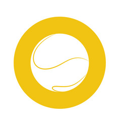 sport tennis ball vector image
