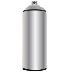 Spray bottle aluminum vector image