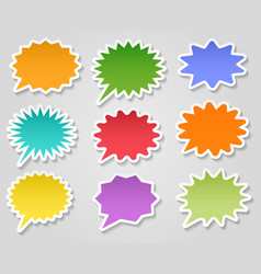 star burst stickers set vector image