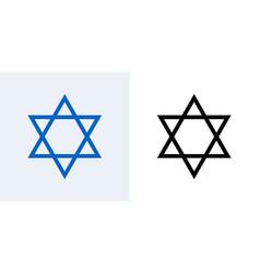 star of david jewish icon israel jew david vector image