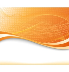 sunburst background in orange color textured vector image