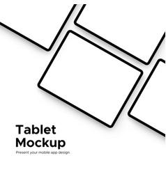 Tablet computer mockup for mobile app design vector