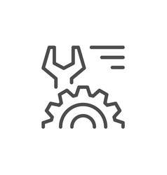 technical line icon vector image