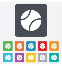 Tennis ball sign icon Sport symbol vector image