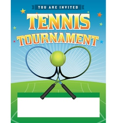 Tennis Tournament Flyer vector image
