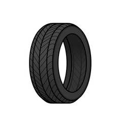 tire cartoon vector image