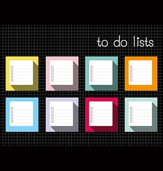 to do lists long shadow vector image