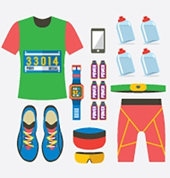 Top View Of Males Runner Gears vector image