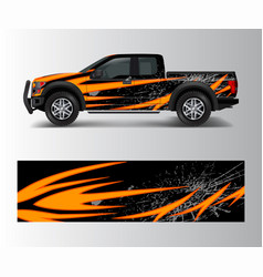 Truck and vehicle car racing graphic for wrap and vector