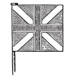 United kingdom first union jack vintage vector