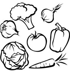 Vegetable - black outline vector