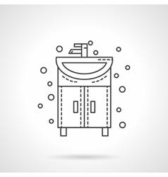 Washstand icon flat line design icon vector