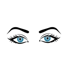 woman eyes icon image vector image