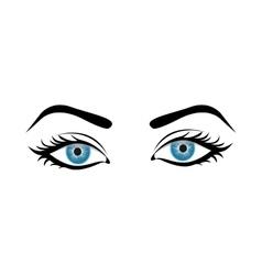 Woman eyes icon image vector