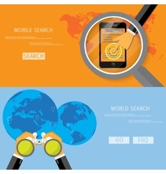 World and mobile search vector image