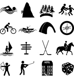 Adventure sports icons set vector image