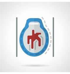 CT brain flat icon vector image