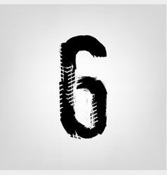 grunge tire figure vector image vector image