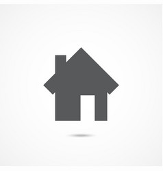 home icon on white vector image