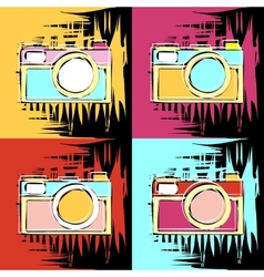 painting in the style of Andy Warhol vector image